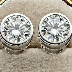 2CT Moissanite Diamond Earrings